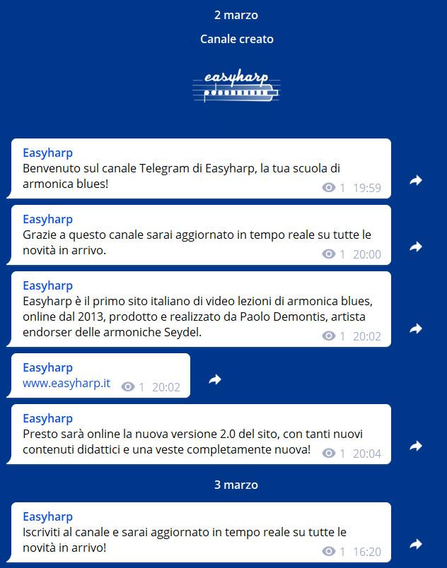 canale telegram easyharp